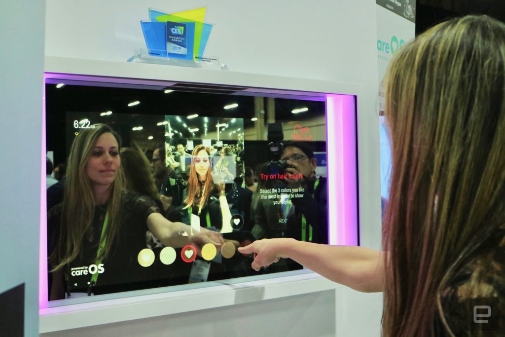 CareOS smart mirror at CES 2020